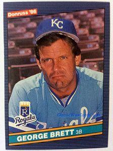 1986 Donruss George Brett Baseball Card 1986 Donruss Baseball