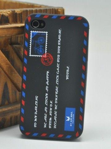 Envelope Pattern Protective Case ForIPhone 4/4S (Black)
