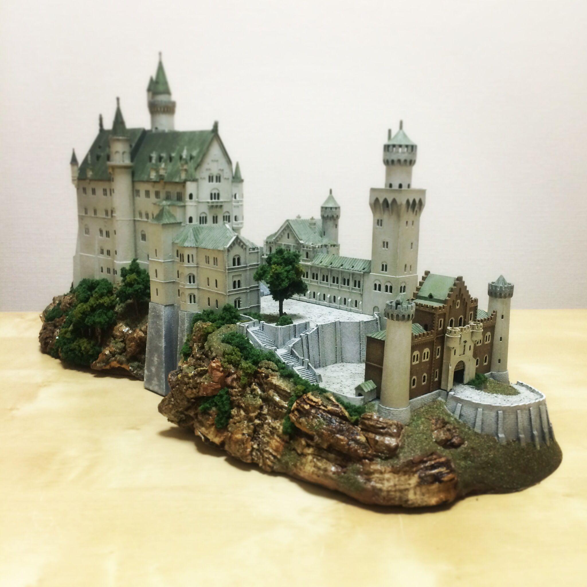 Schloss Neuschwanstein Plastic Model Castle Building Neuschwanstein Castle Beautiful Castles Real Castles