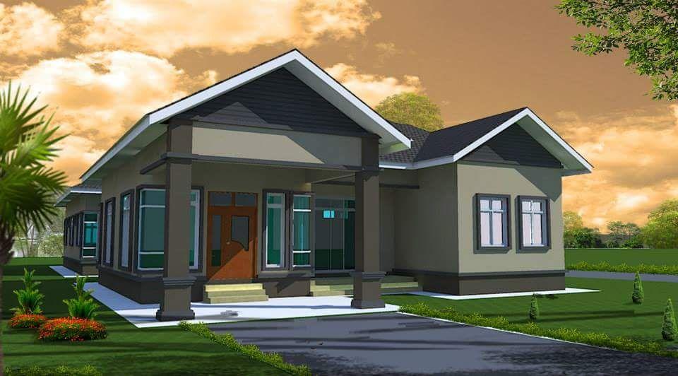 Desain Taman Kota  6 unit rumah rekabentuk modern tropika untuk dijual