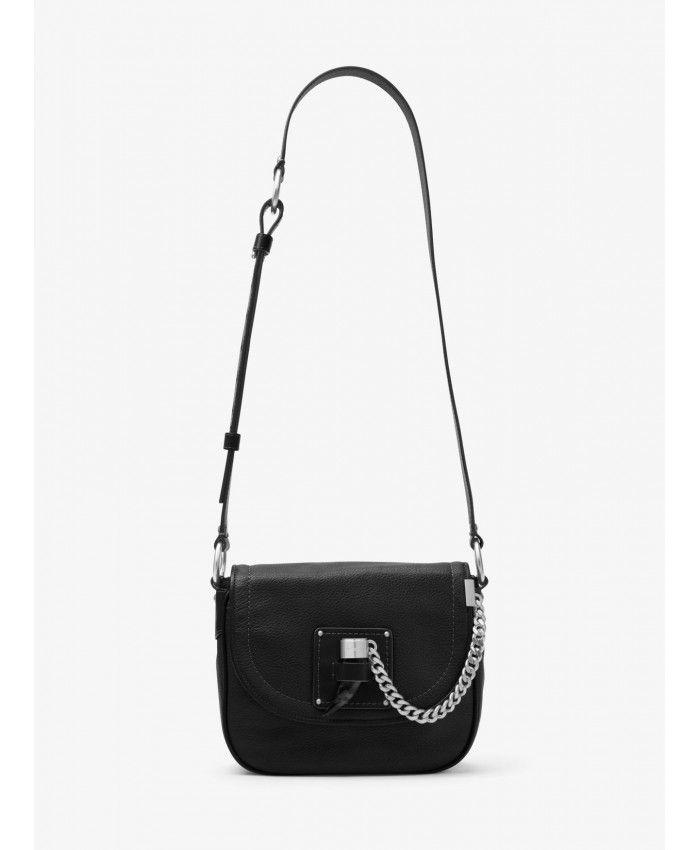 5520439c48a5 Michael Kors Black James Medium Leather Saddlebag 30F6AJYM2L-0001 ...