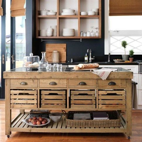 Isla para la la cocina! Super funcional para guardar utensilios y - muebles para cocina de madera
