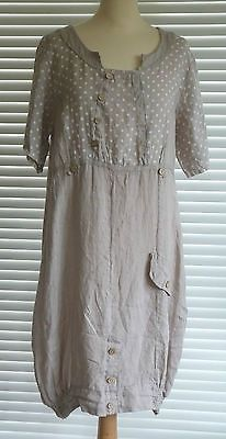Fabulous Lagenlook Quirky Linen Dress OSFA Fantastic Style | eBay