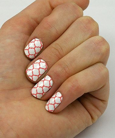 Another great find on #zulily! Quatrefoil & Arrow Stripes Two-Pack Nail Wrap Set #zulilyfinds