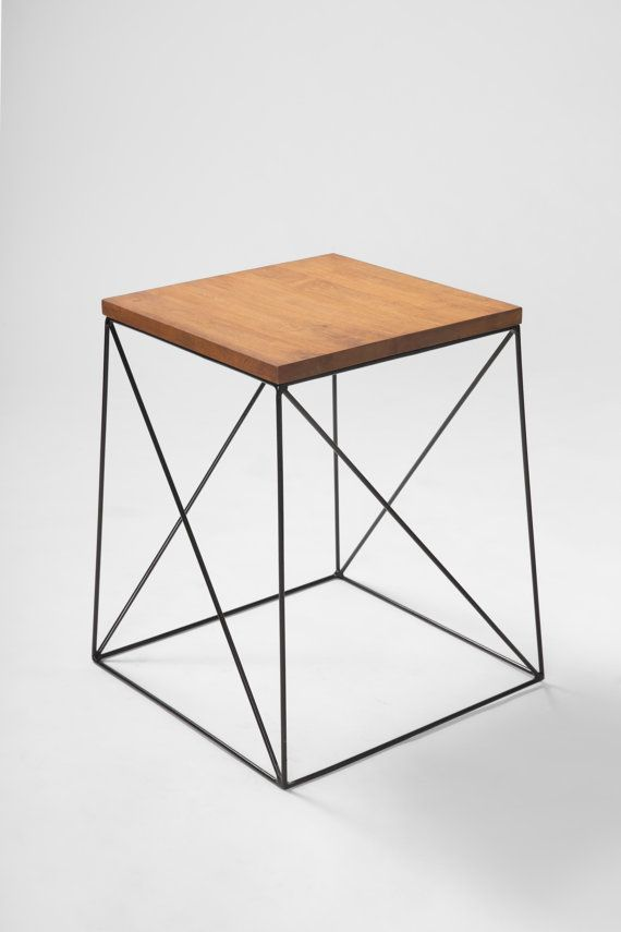 Black Metal Bedside Tables: Metal/ Wood Coffee Table, Small Desk Or Chair