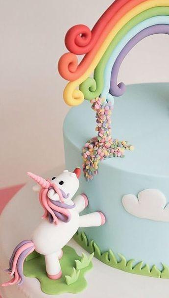 DIY-Anleitung: Lustige Einhorn-Torte selber gestalten via DaWanda.com #littleunicorn
