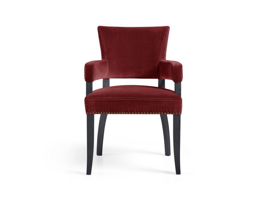 Fallyn Dining Arm Chair In Cardinal Red Arhaus Furniture