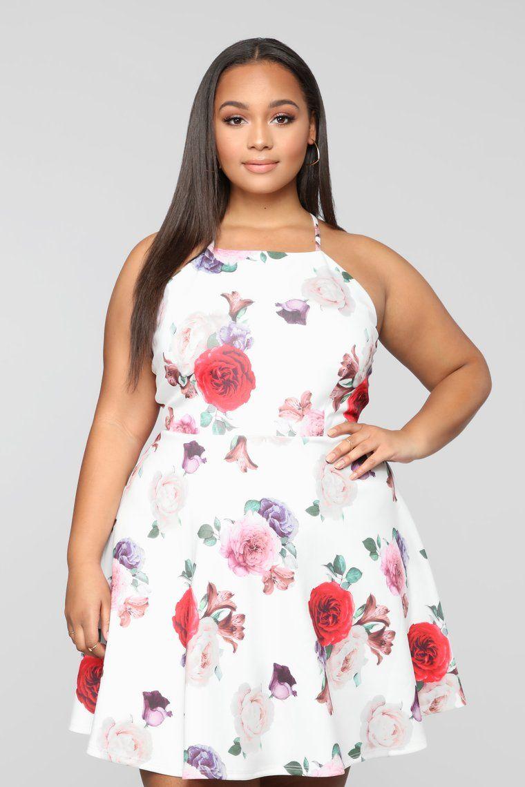 Fabulously Flora Flare Mini Dress - White/Combo in 2020 - White mini dress, Casual dresses, Best casual dresses - 웹