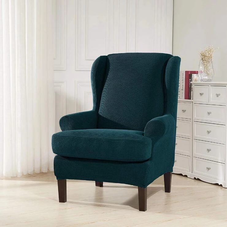 Stretchable Wing Back Chair Slipcovers Recliner Slipcovers