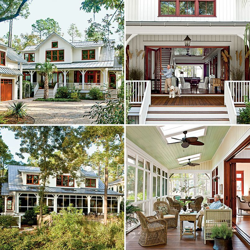 Charmant For Sultry Climates: Low Country Style Dogtrot House (Southern Living)