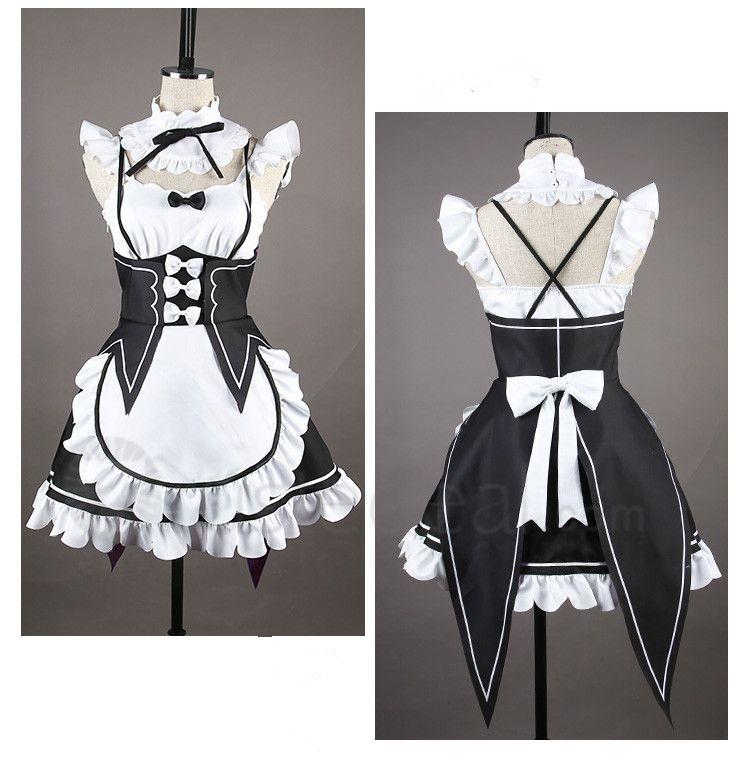 Re Zero Kara Hajimeru Isekai Seikatsu Twins Rem Ram Maid Cosplay Costume fdc9862ed4af