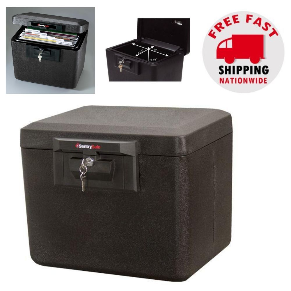 Details About Fireproof Document Safe Security Box Storage Chest