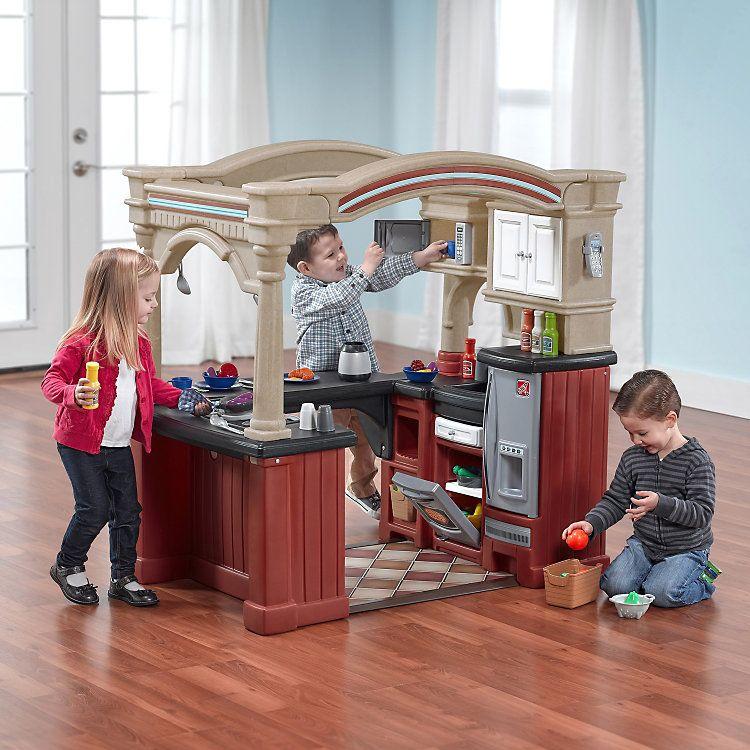Step2 Grand Walk In Kitchen Kohls In 2021 Kids Play Kitchen Play Kitchen Play Kitchen Sets