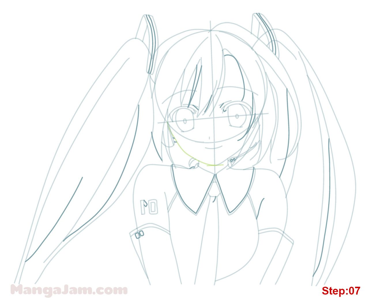 Let S Learn How To Draw Hatsune Miku From Vocaloid Today Hatsune Miku Codenamed Cv01 Was The First Japanese Vocaloid To Be Hatsune Miku Hatsune Miku