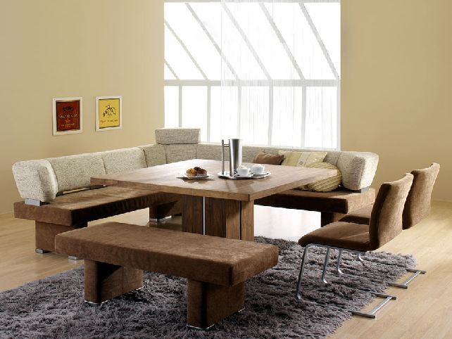 Amazing Contemporary Dining Table With Bench