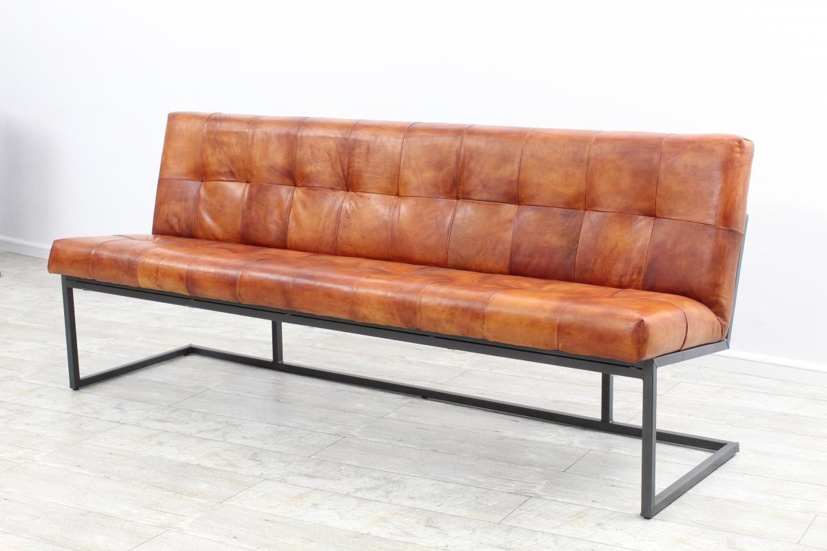 Sitzbank Design Berlin III Echt Büffel Leder Vintage