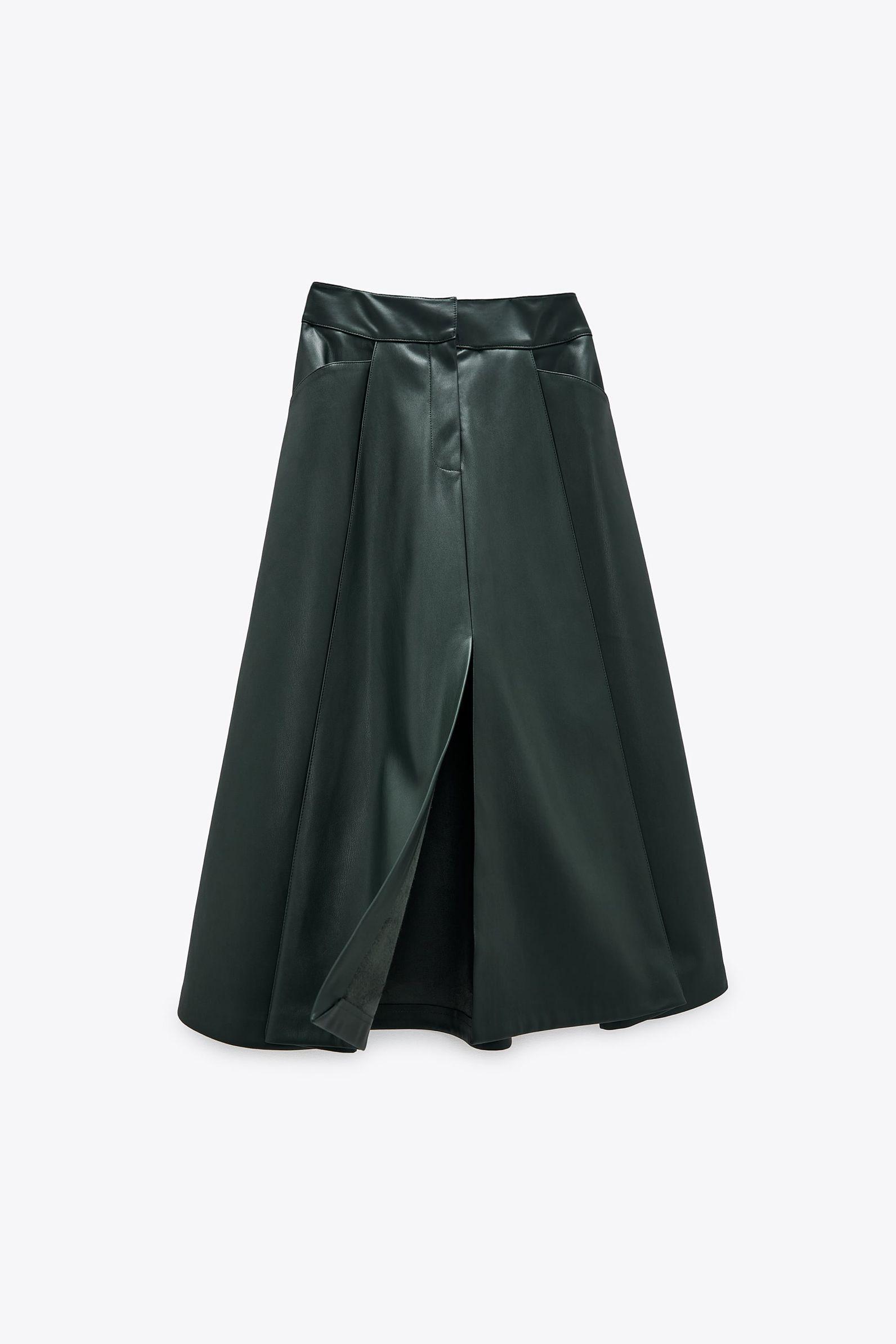 Pin By Noura On ساعة رملية In 2021 Faux Leather Midi Skirt Leather Midi Skirt Skirts