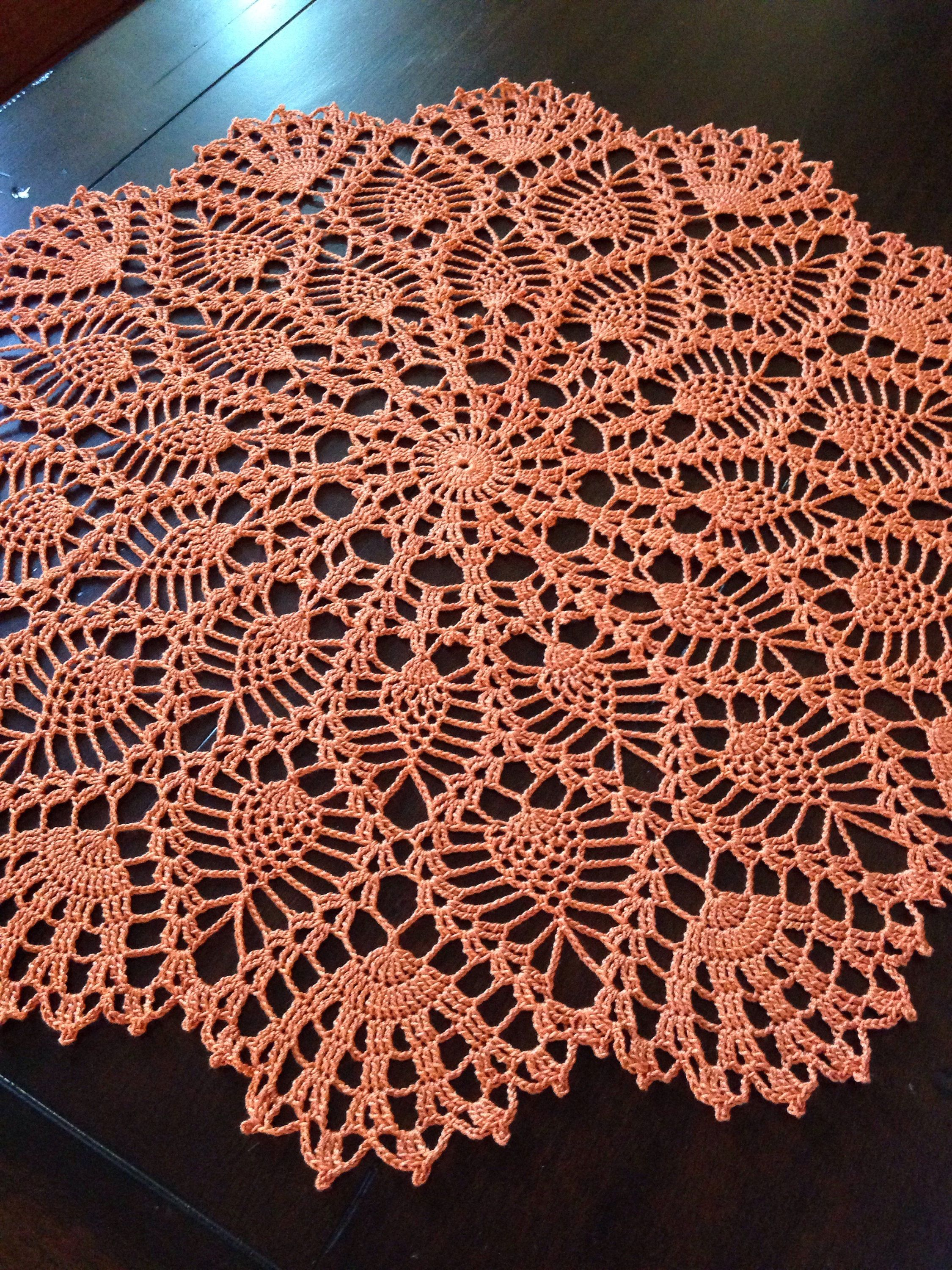Large Pumpkin Pineapple Doily, Beautiful | Tejidos Paño | Pinterest ...
