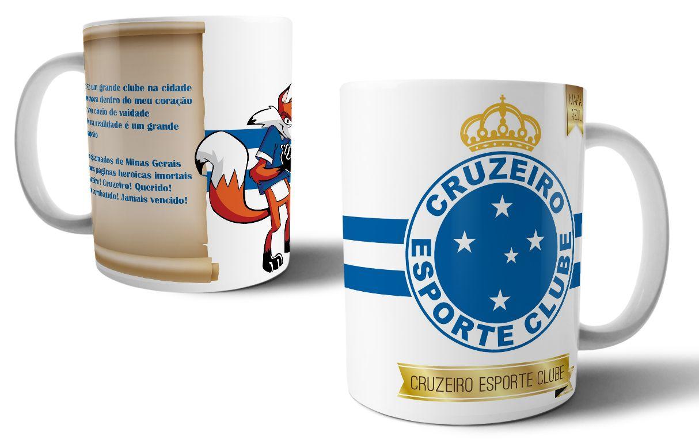 0820b3ae15a82 Caneca Personalizada do Cruzeiro - Tema Futebol  cruzeiro