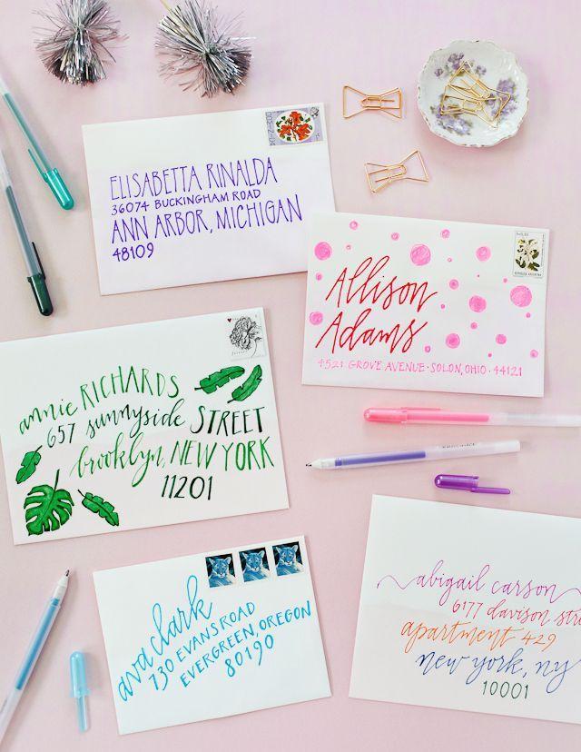 DIY Colorful Envelope Address Ideas Envelope addressing, Envelopes - new letter envelope address format canada