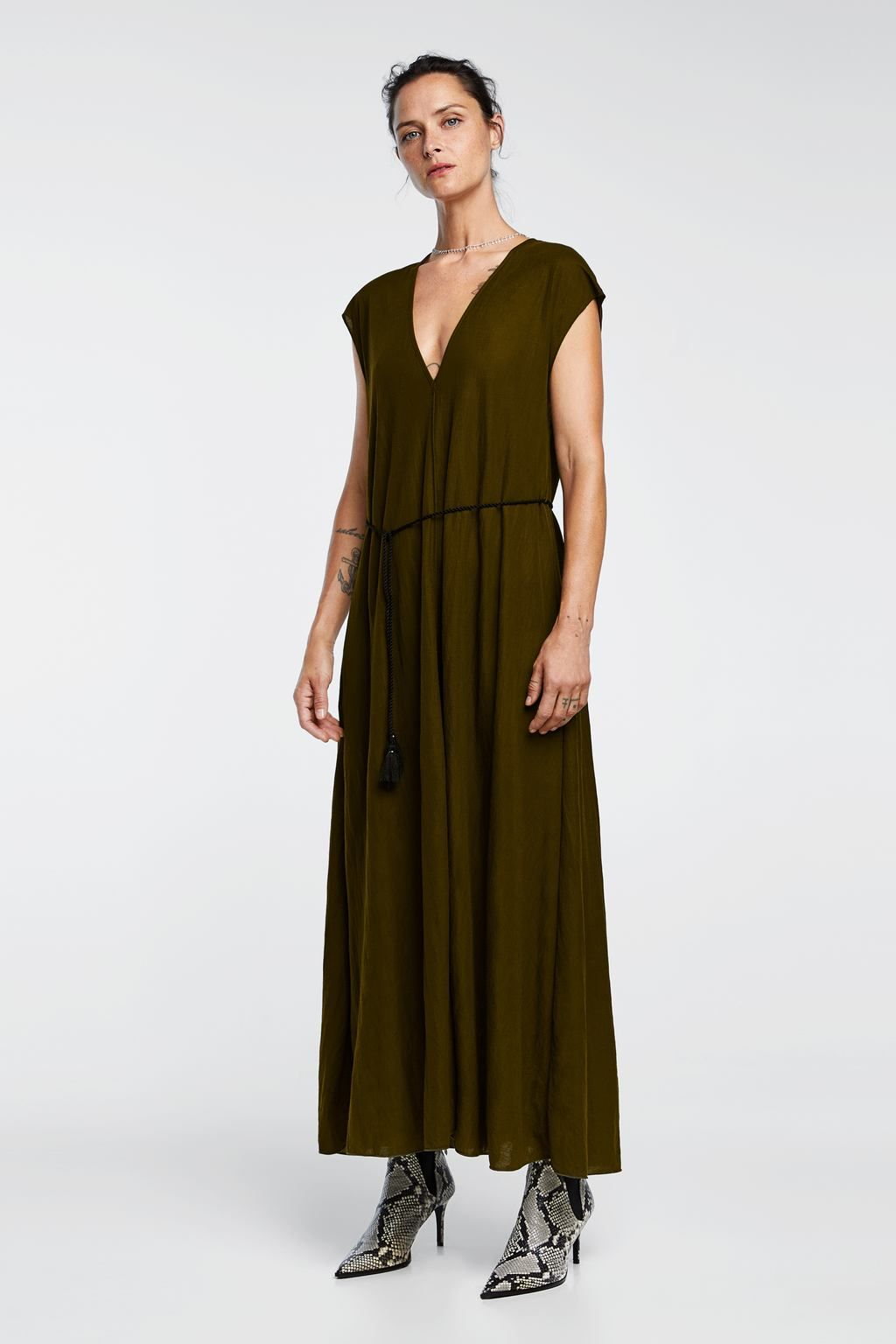 image 1 of long rustic dress from zara | rustic dresses