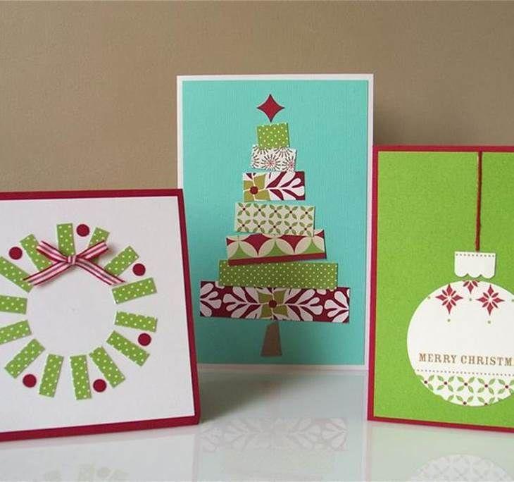 Resultado de imagen para tarjetas navide as hechas a mano - Manualidades postales navidad ...