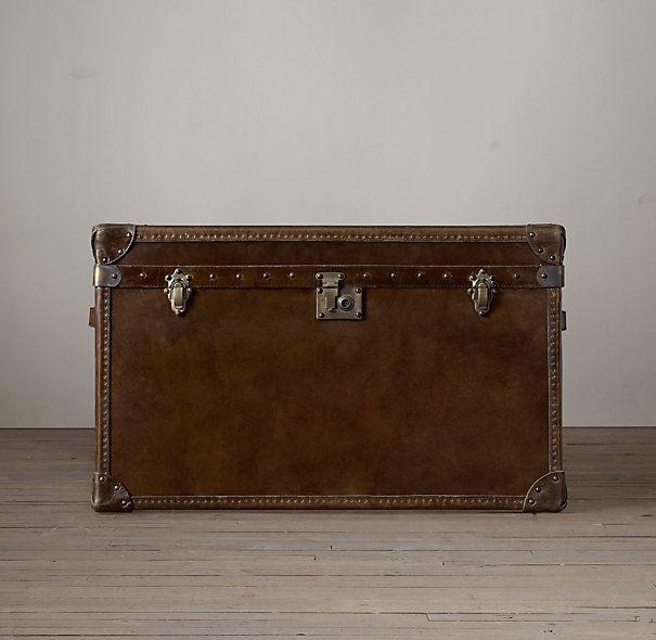 Antique Steamer Trunk Nightstand