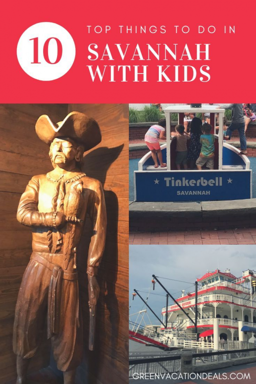 Planning a trip to Savannah Georgia with children & not sure if there are enough fun things for kids to do? Read our handpicked 10 activities to find great travel excursions your son or daughter will love! Find out about helicopter tours riverboat & dolphin watch cruise horseback riding trails scavenger hunts Pirate House play areas children's museum laser tag mini-bowling huge inflatables arcade games Tybee Island beach & more #Savannah #travelwithkids #familytravel #familytraveltips #horseback