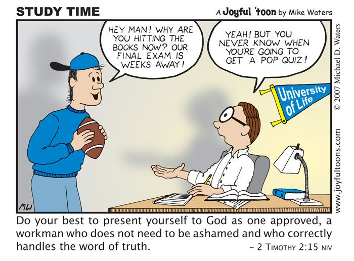 This Cartoon Is A Reminder To Read And Study The Bible, Because You Never  Know When You Might Need To Know It.