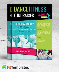 Dance class flyer template for zumba fundraiser on FitTemplates ...
