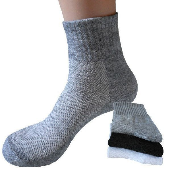 Men Spring Summer Black Mesh Socks Man Cotton Socks Male Gray Socks 10pairs/lot