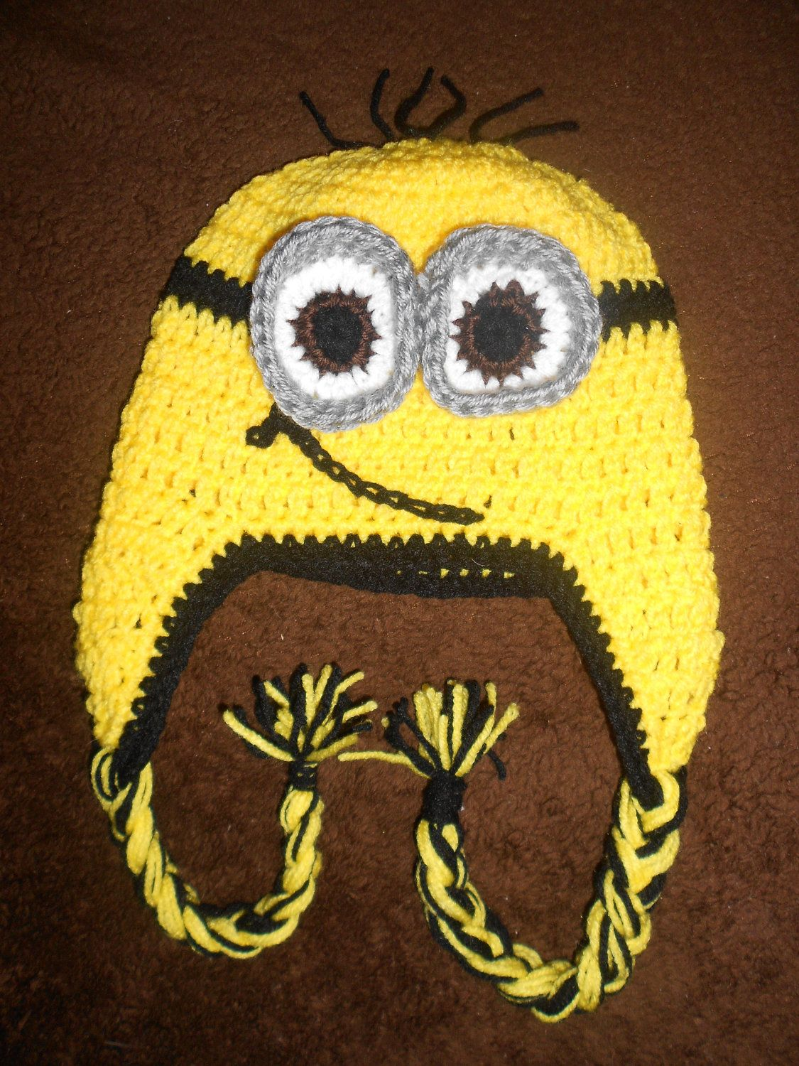 Wonderful! Crochet Hat inspire by the Minion (despicable me). $23.00 ...