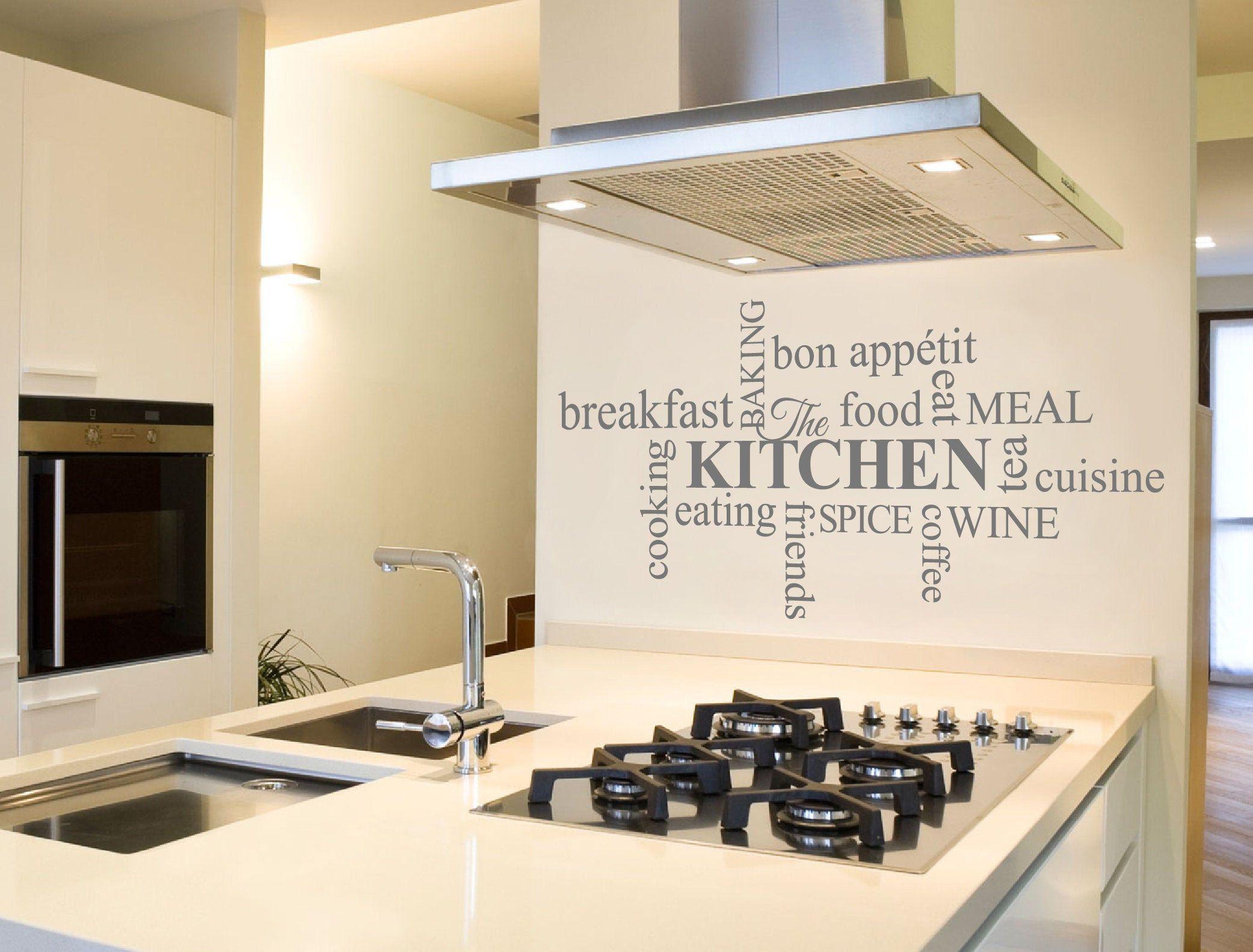 Kitchen Word Art Sticker Kitchen Wall Art Kitchen Decor Kitchen