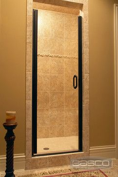 Infinity Frameless Continuous Hinge Door Featuring Oil Rubbed