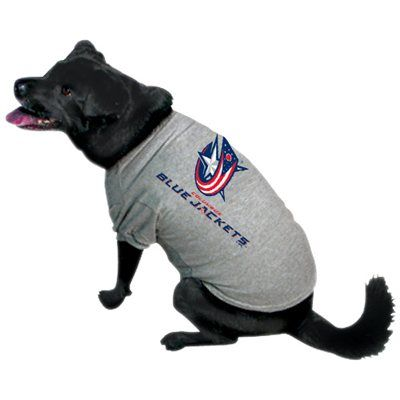 Columbus Blue Jackets Gray Dog T-shirt (I need 5 for all the pugs)