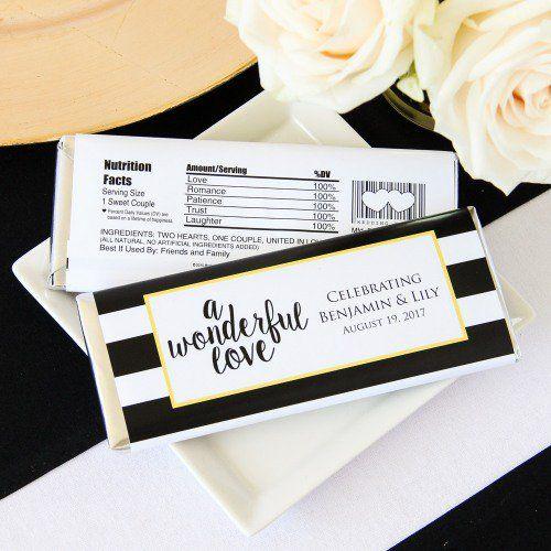 Personalized Wedding Hersheys Chocolate Bars By Beau Coup