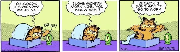 Pin By Brittany Buck On Garfield I Love Mondays Garfield Garfield Comics