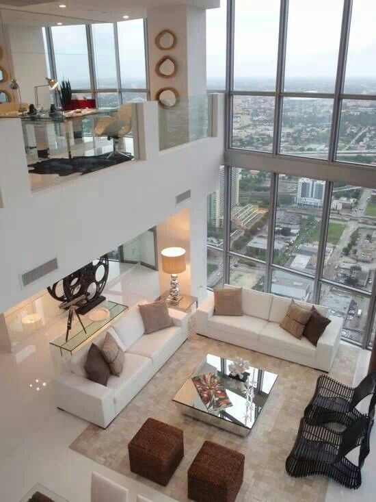 Urban Modern Chic Living Room In A Loft Style Home.wonderful View Very Nice