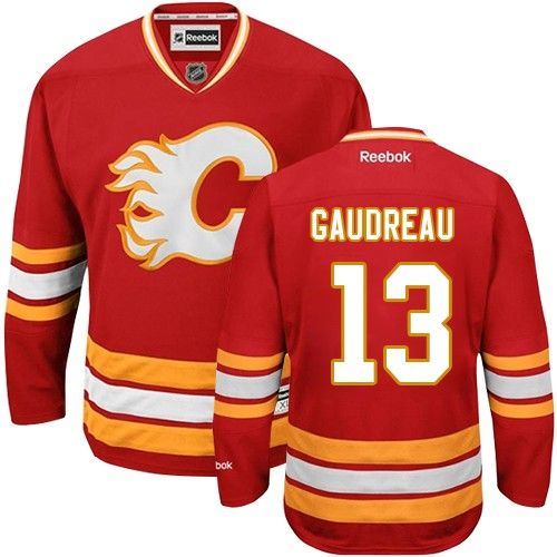 Reebok Calgary Flames #13 Women's Johnny Gaudreau Authentic Red Third NHL  Jersey