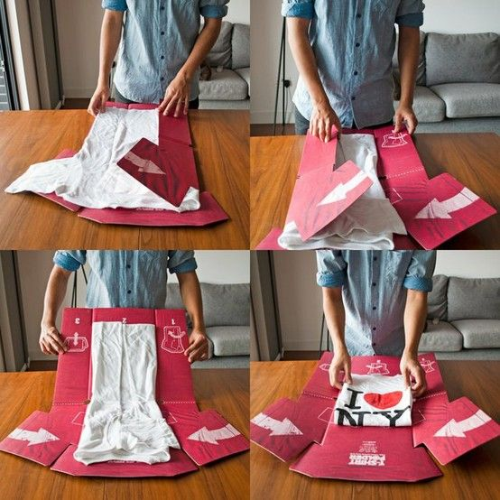 Make T-shirt folding easy! I can't believe I have been doing it the hard way my whole life!
