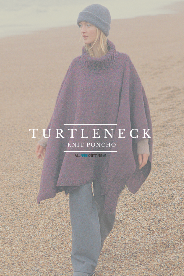 """Very chic looking poncho, definitely adding it to my """"to-knit"""" list"""