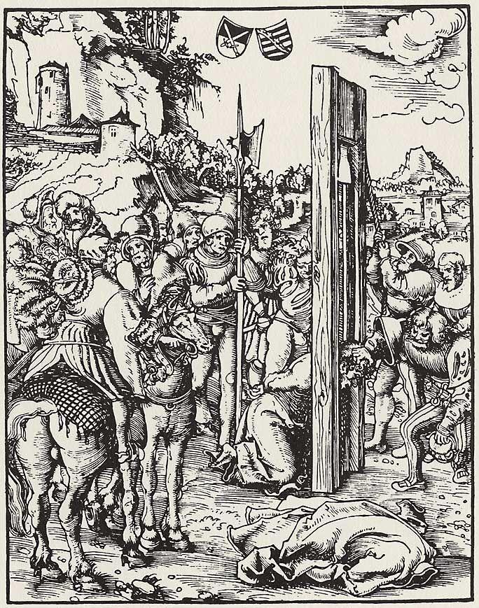 Artist: Cranach d. Ä., Lucas, Title: »Martyrium der zwölf Apostel«, Hl. Matthias, Date: ca. 1512