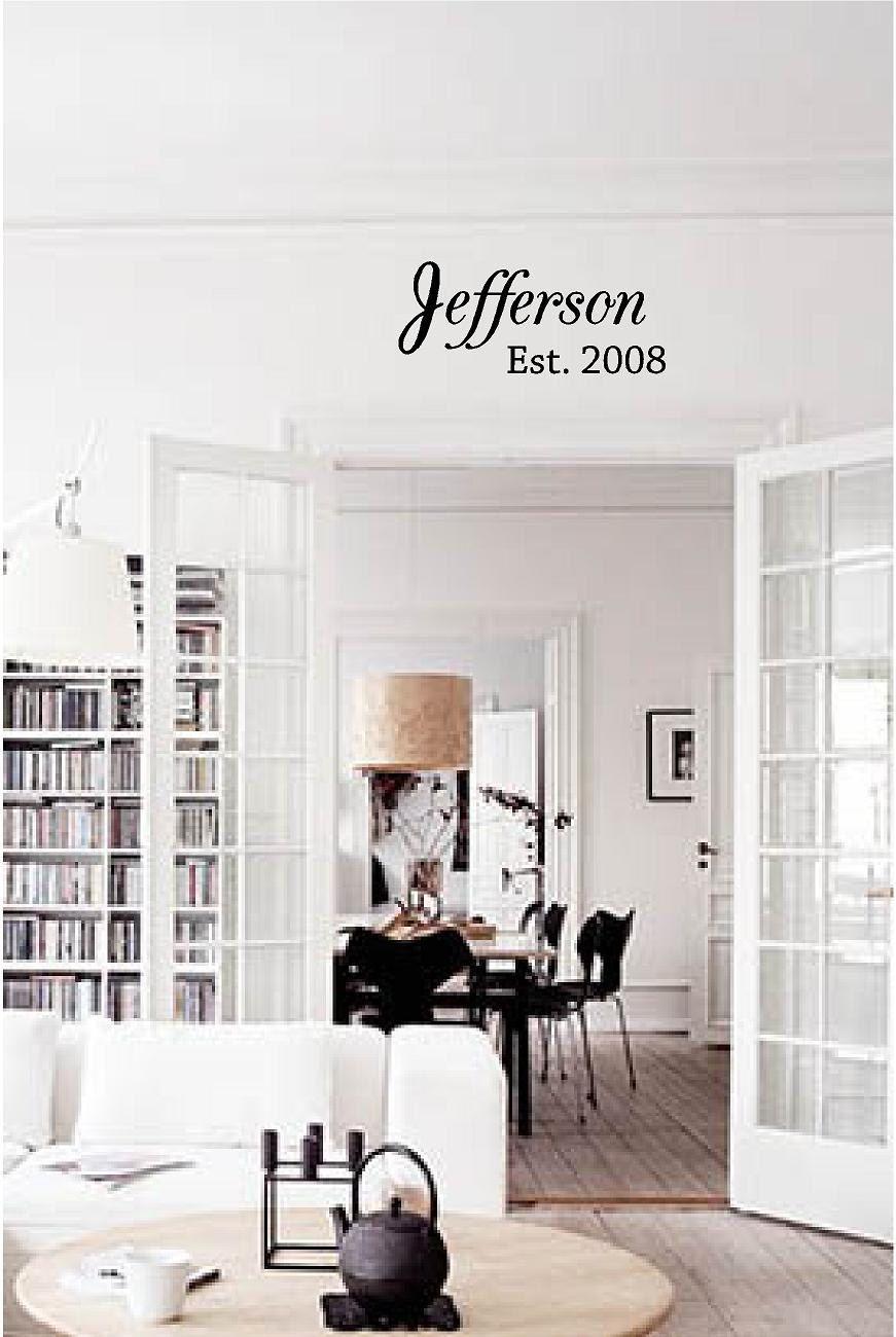 Home interior names custom family last name vinyl decal  family vinyl wall art decal