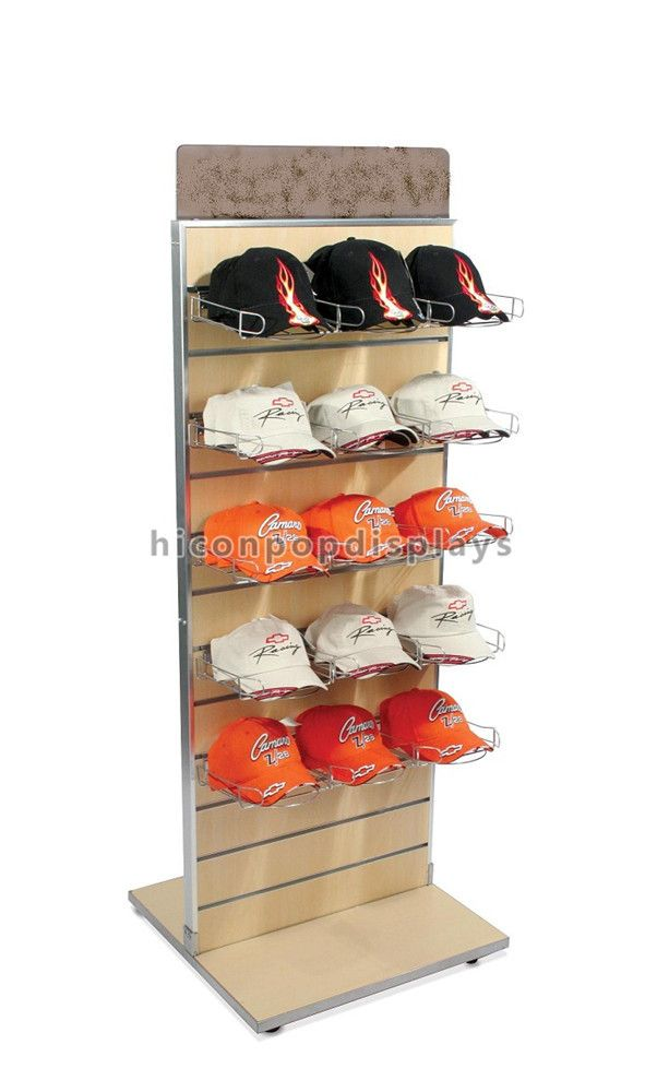 Slatwall Wooden Hat Display Rack Floorstanding Double Sided From Hicon Pop Displays Limited Toko