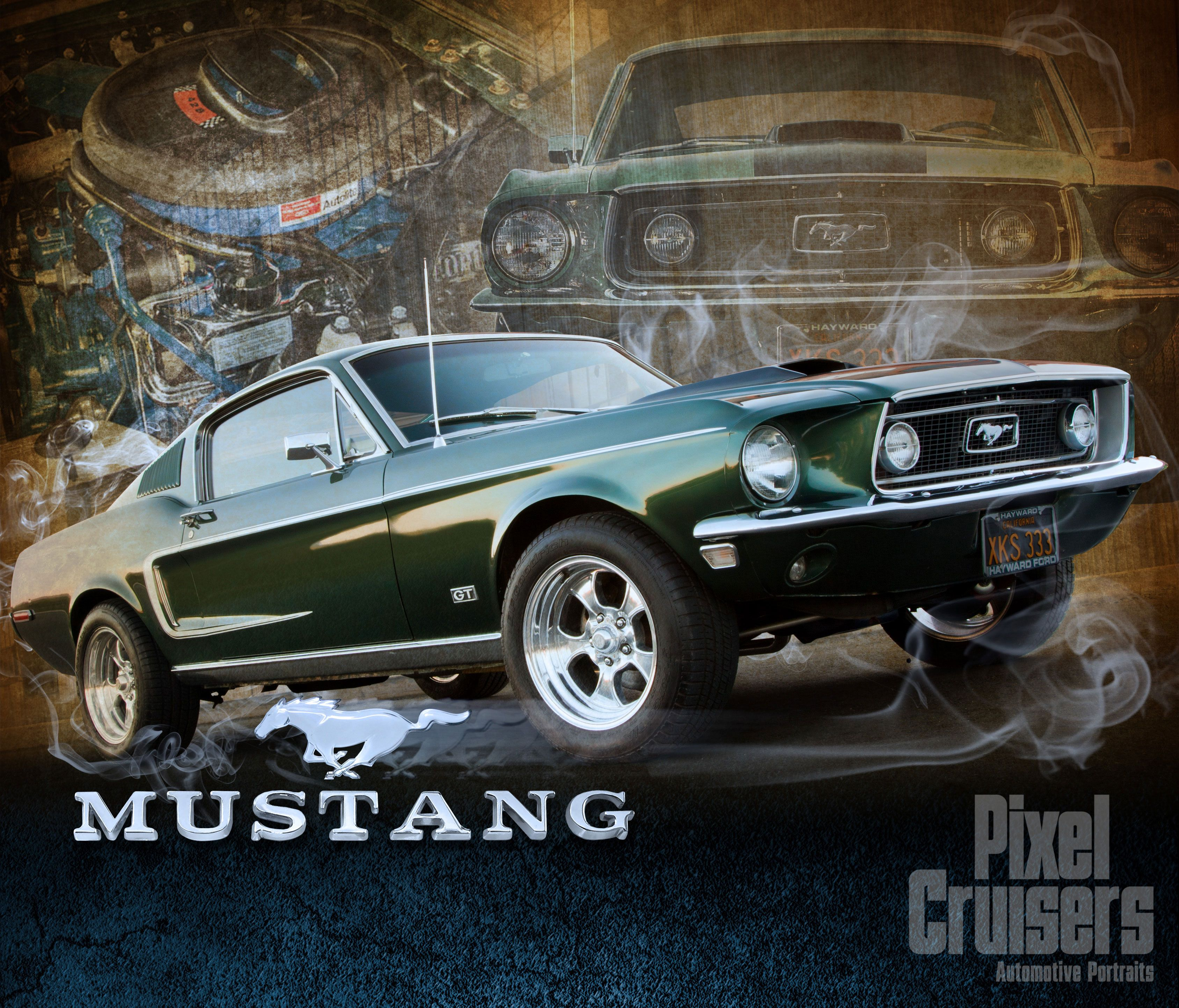 Mustang  American Muscle  calendar page from the 2016 Ou0027Reilly Auto Parts® & Mustang