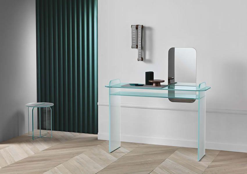 Tonelli Mobili ~ Opalina scrittoio tonelli design glass furniture contemporary