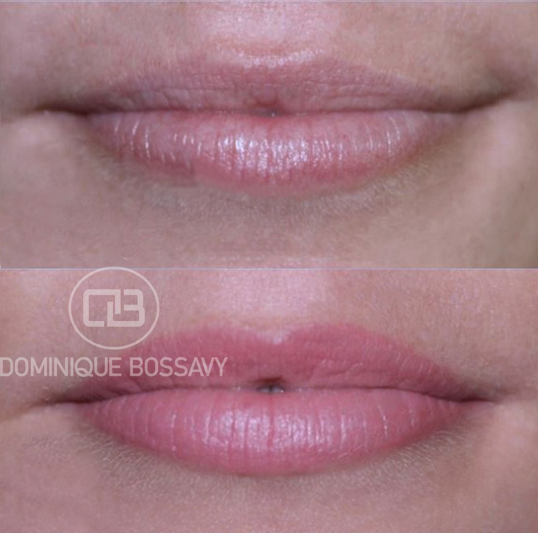 Before after nano color infusion permanent makeup for