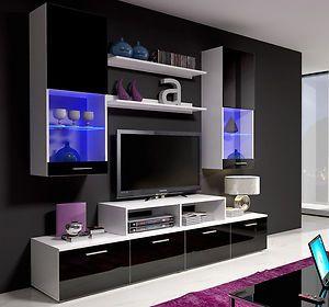 Glass Wall Panels Ebay Ikea Tv Wall Unit Tv Wall Unit Modern Tv Wall Units