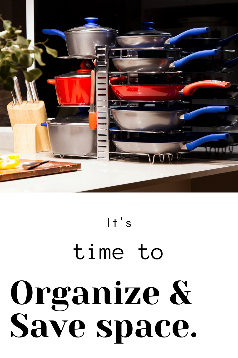 $29.99. Organize your pots and pans neat and safe using this lovely pot and pan organizer. Helps you to stack upto 8 pans and pots. You can store utensil too using the added hooks #panorganizer #potrack #potorganizer #pots #pans #kitchenorganization #kitchenorganizer #kitchenspace #spacesaver #kitchenutensil