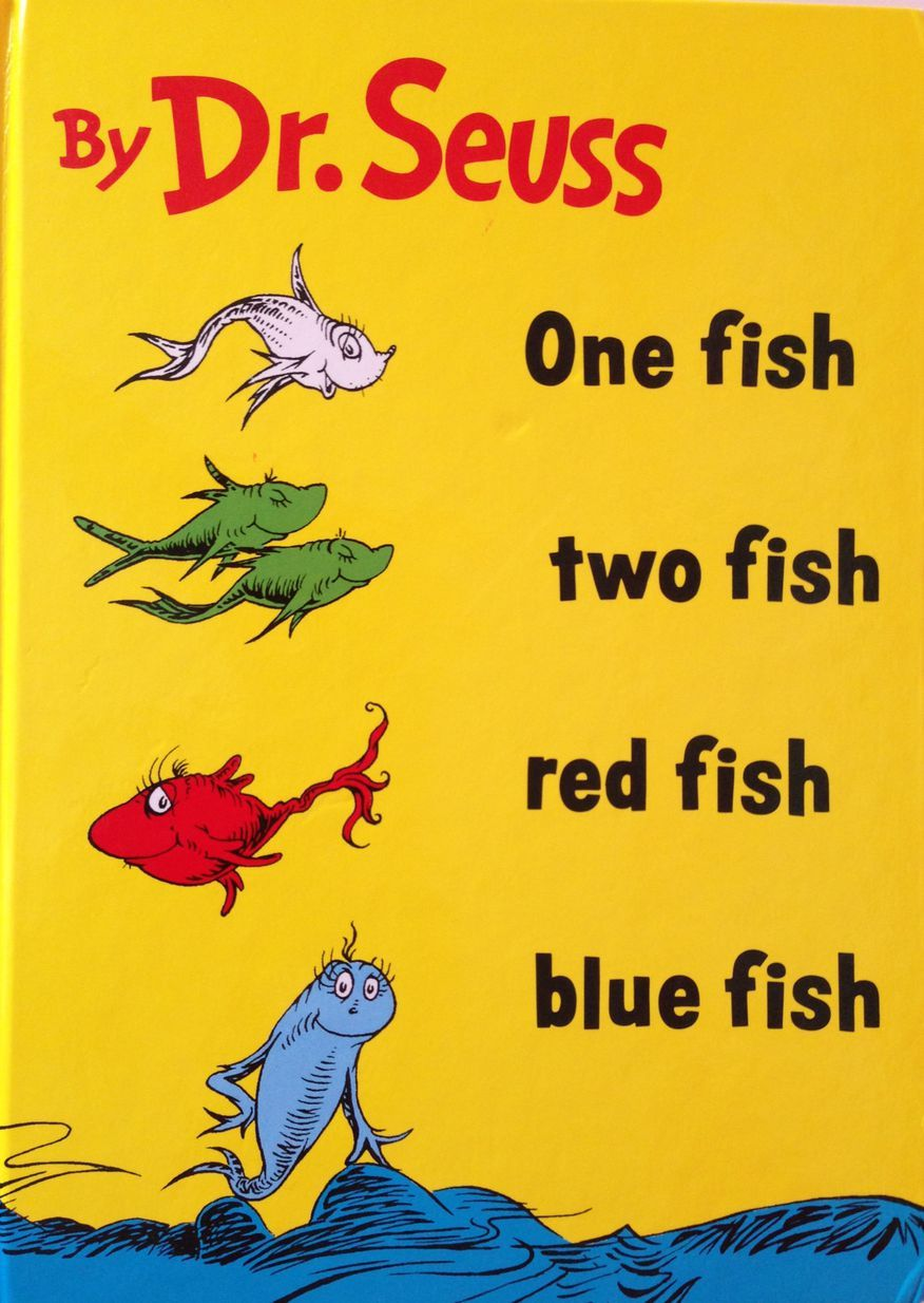 Printable Dr Seuss Worksheets And Coloring Sheets Red Fish Blue Fish Red Fish One Fish Two Fish